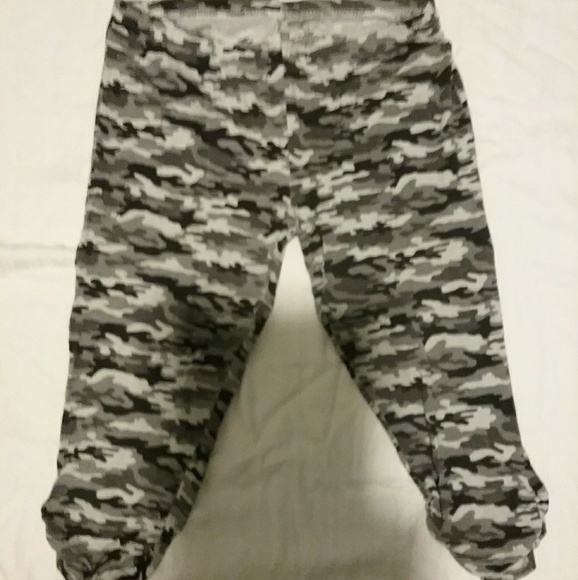 Plus size women army fatigue stretchy capris